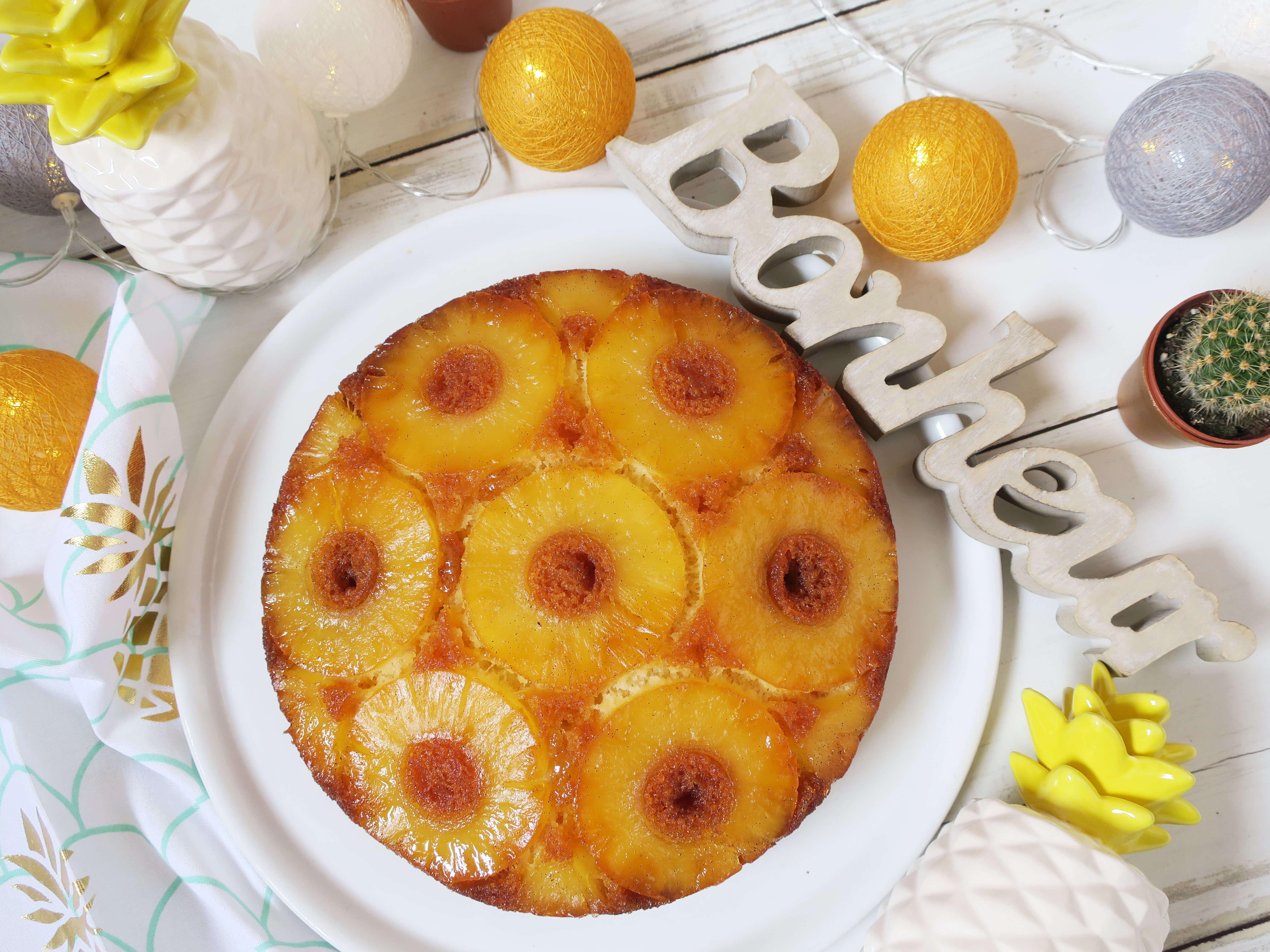 recette gâteau à l'ananas