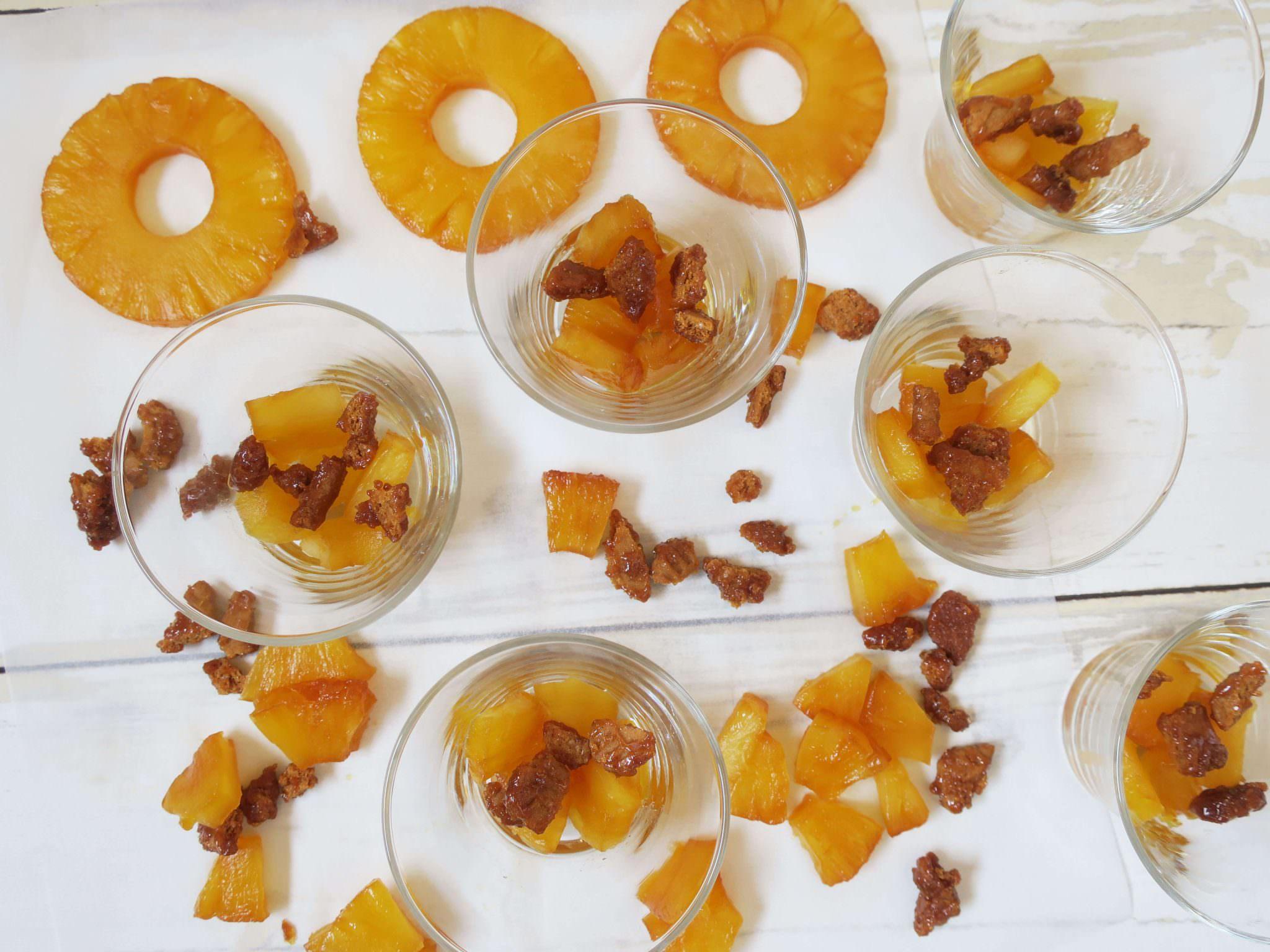 recette verrines ananas