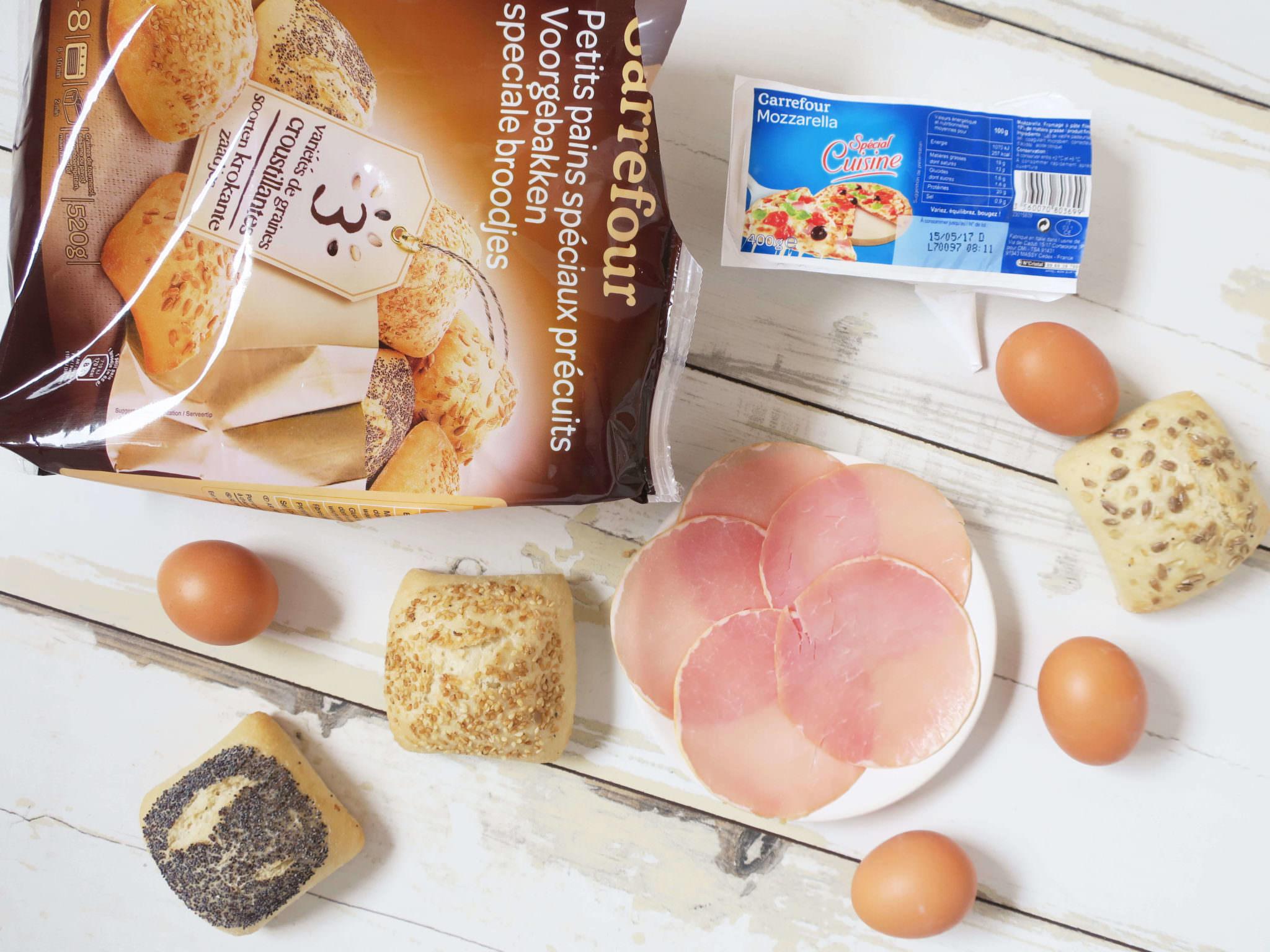 recette petits pains garnis