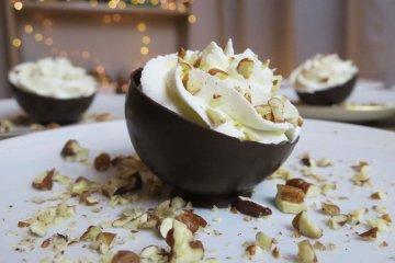 brownie demi sphère en chocolat