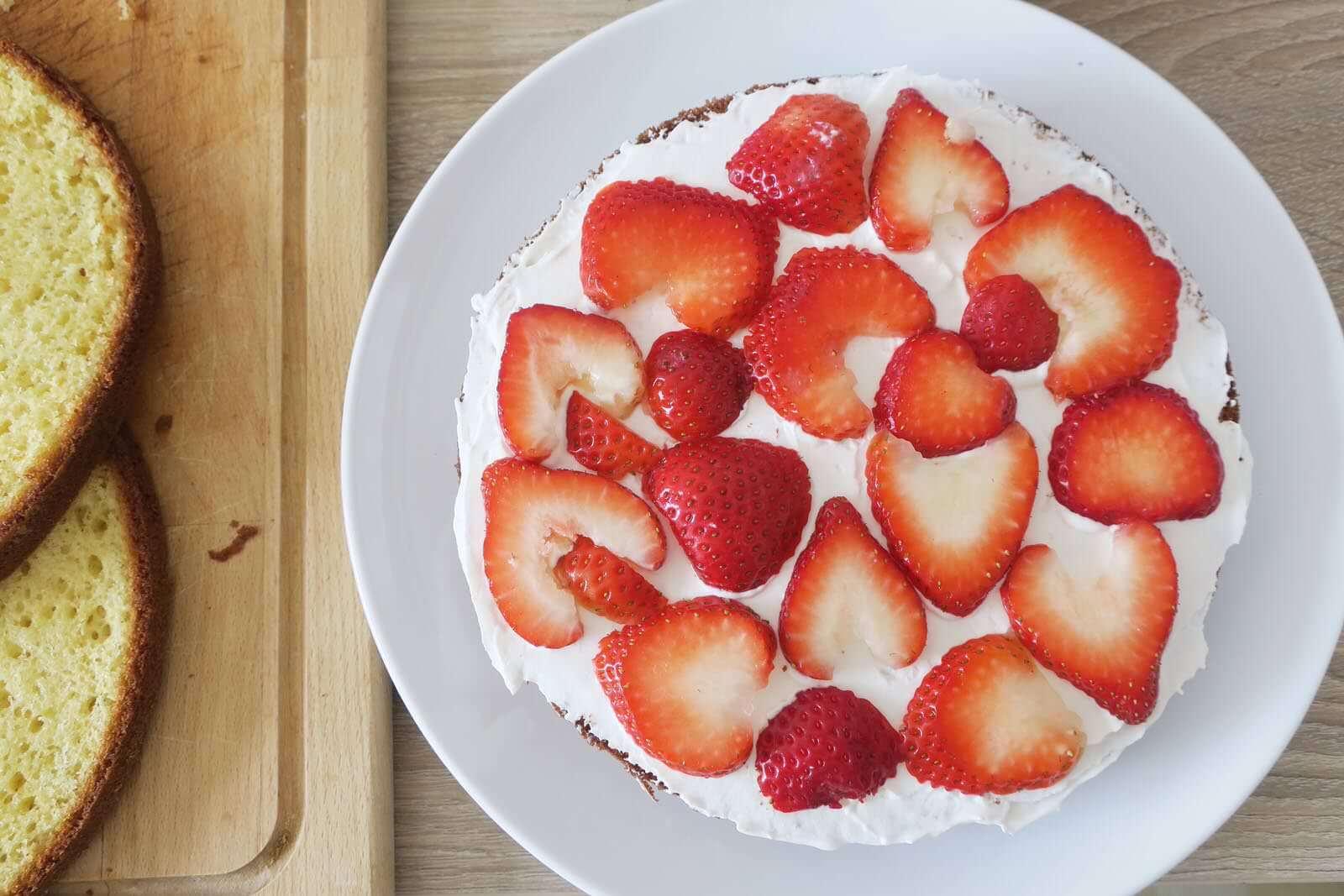 layer cake aux fraises