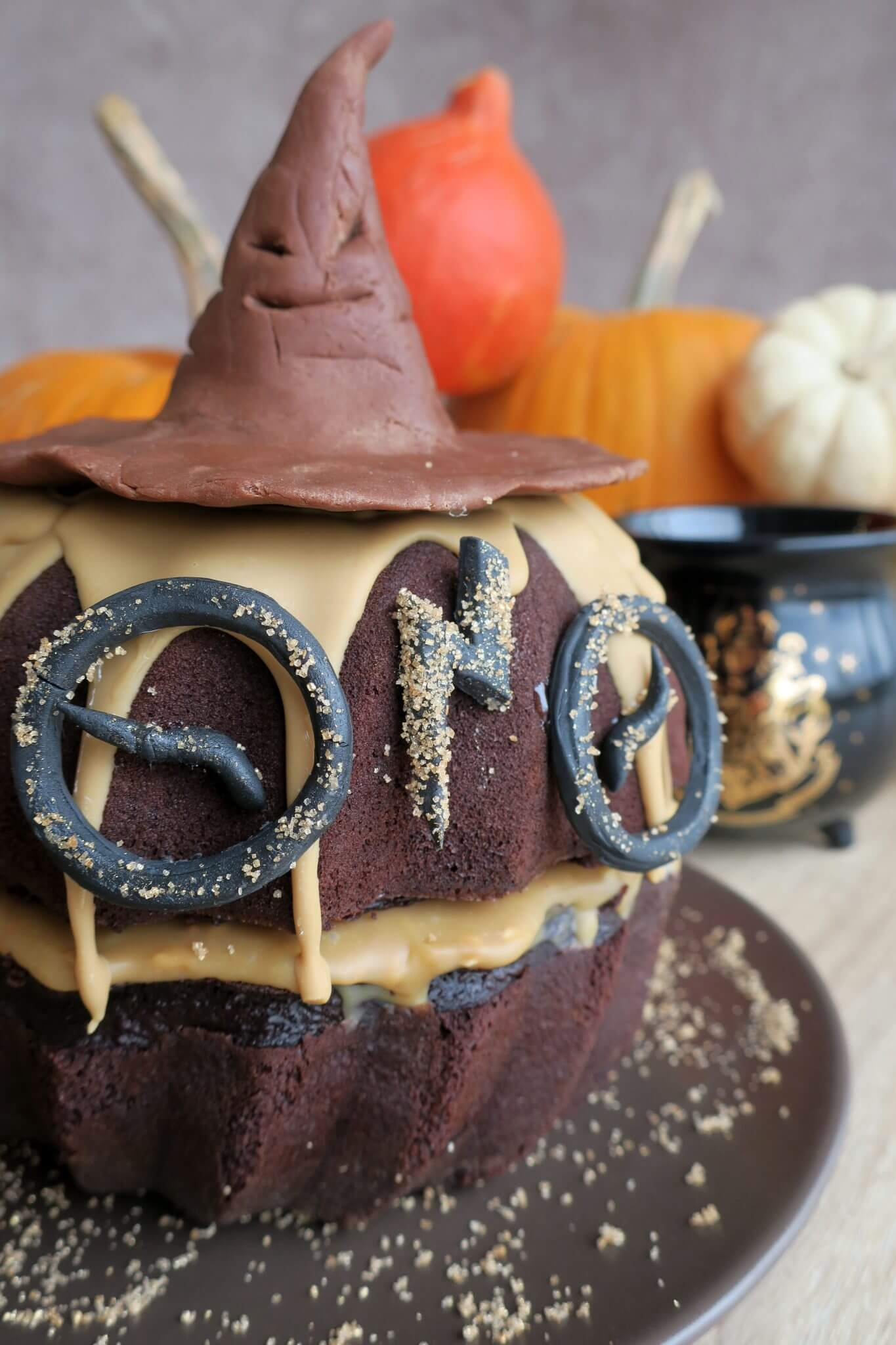 molly cake au chocolat halloween harry potter