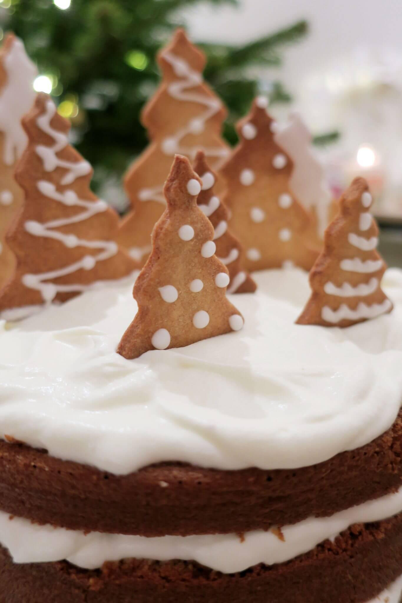 layer cake de Noël à la cannelle