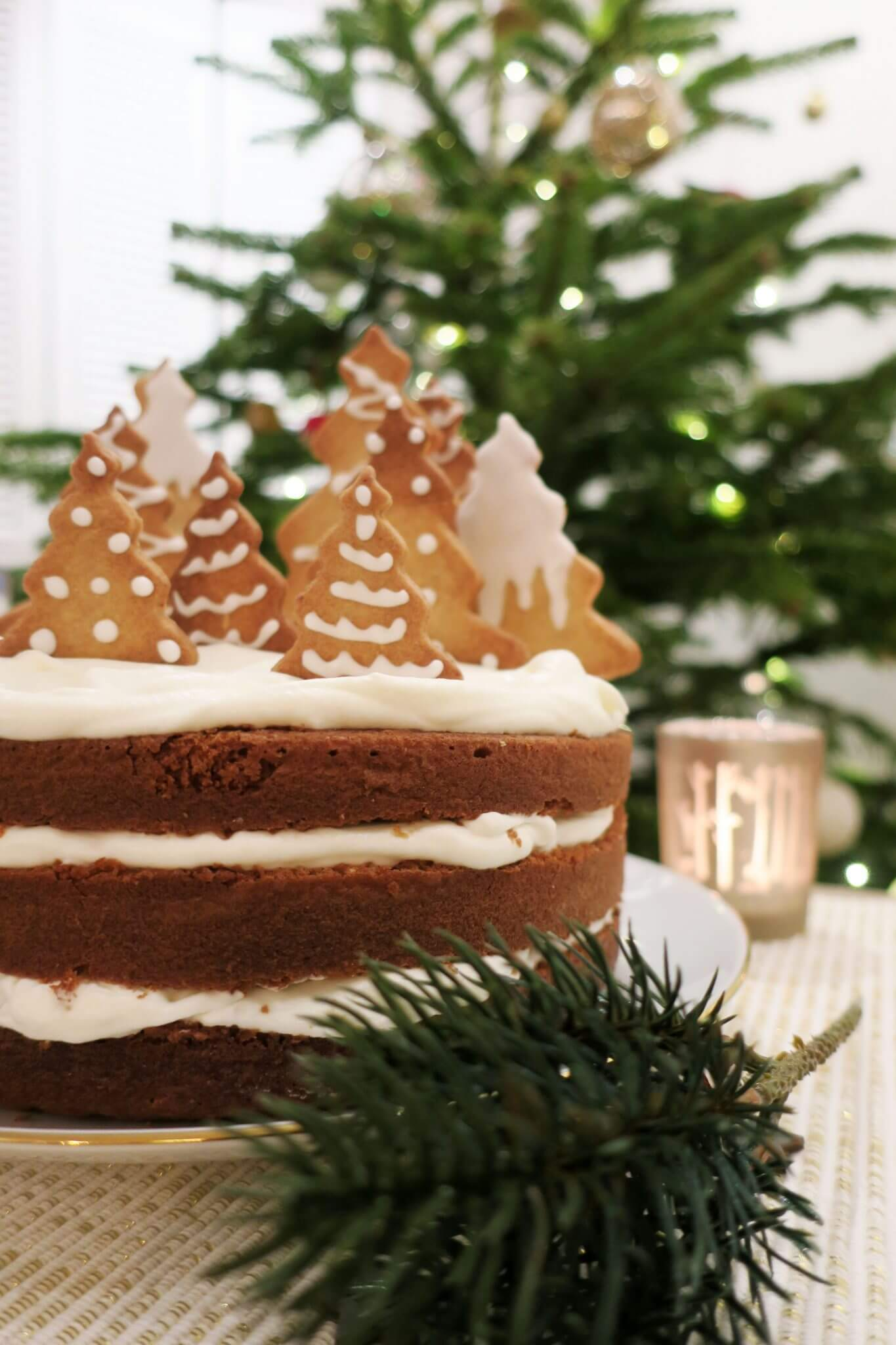 layer cake à la cannelle Noël
